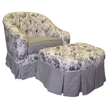 Toile Black Adult Park Ave Glider Rocker and Ottoman