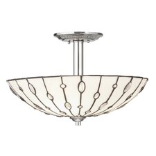 Cloudburst 3 Light Semi Flush Mount