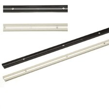 4' White Linear Easy-to-Install Track for Under Cabinet Lighting