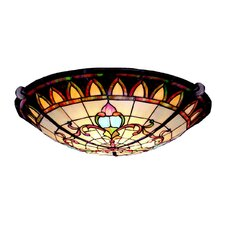 Tiffany 3 Light Flush Mount