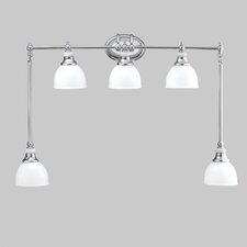 Polygon 5 Light Vanity Light