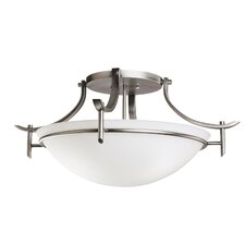 Olympia 3 Light Semi Flush Mount