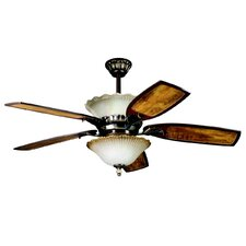 Golden Iridescence Three Light Bowl Ceiling Fan Light Kit