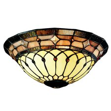 "11.81"" Art Glass Ceiling Fan Bowl Shade"