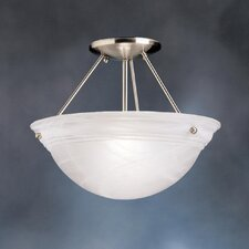 "Swiss Passport 13"" 1 Light Semi Flush Mount"