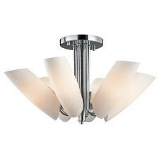 Stella 6 Light Semi Flush Mount