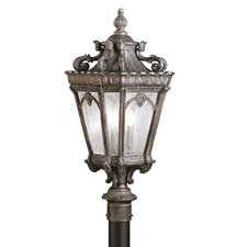"<strong>Kichler</strong> Tournai 3 Light 12"" Outdoor Post Lantern"