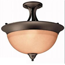 <strong>Kichler</strong> Wedgeport 1 Light Semi Flush Mount
