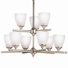 Ansonia Indoor 9 Light Chandelier