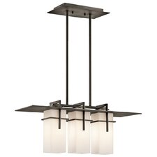 Caterham 3 Light Outdoor Linear Chandelier