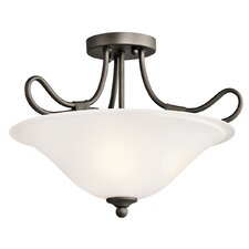 "<strong>Kichler</strong> Stafford 14.25"" 2 Light Semi Flush Mount"