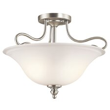 Tanglewood 2 Light Semi Flush Mount