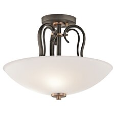 <strong>Kichler</strong> Claridge Court 3 Light Semi Flush Mount