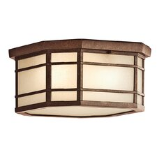<strong>Kichler</strong> Crosett 3 Light Outdoor Flush Mount