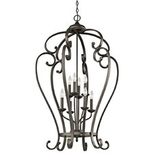 <strong>Kichler</strong> Monroe 8 Light Foyer Cage Chandelier