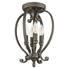 Monroe 4 Light Cage Semi Flush Mount