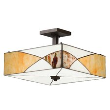 Elias 3 Light Semi Flush Pendant
