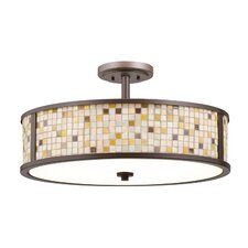 Blythe 5 Light Semi Flush Drum Pendant
