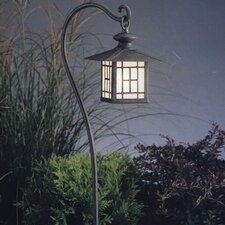 Mission Style 1 Light Hanging Lantern Path Light