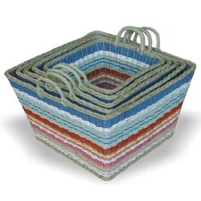 <strong>Jeffan</strong> Funstripes Square Basket (Set of 5)