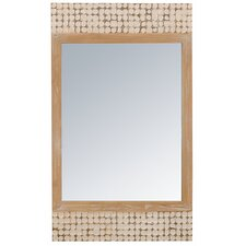 New Hampton Rectangle Mirror in White Wash