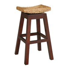 "<strong>Jeffan</strong> Panama 29.5"" Swivel Bar Stool with Cushion"