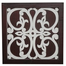 Ratu Modern Fretwork Design 1 Wall Graphic Art on Plaque