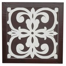 Ratu Modern Fretwork Design 4 Wall Graphic Art on Plaque