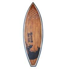 Wooden Surfboard Statue