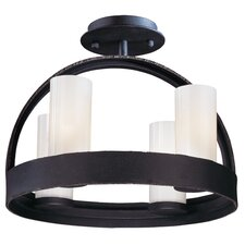 Eclipse 4 Light Semi Flush Mount