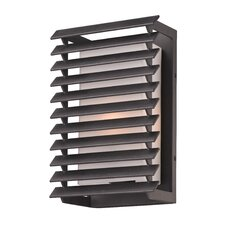Shutters 1 Light Outdoor Wall Light