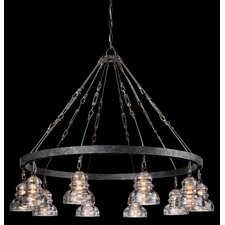 <strong>Troy Lighting</strong> Menlo Park 10 Light Chandelier