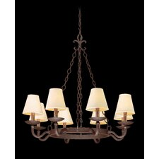 <strong>Troy Lighting</strong> Lyon 8 Light Chandelier