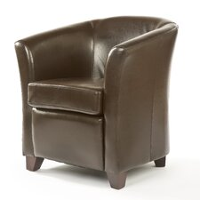 Matfen Leather Tub Chair