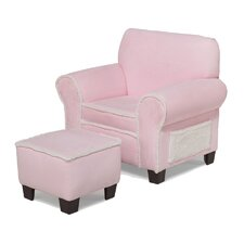 Club Chair and Ottoman Set