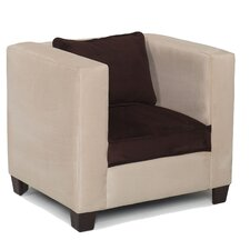 Kid's Modern Chair in Beige and Chocolate
