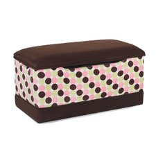 Deluxe Toy Box in Chocolate with Chenille Dots