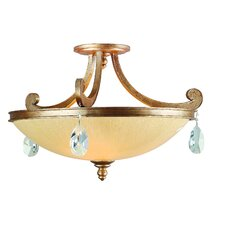 Roma 3 Light Semi Flush Mount