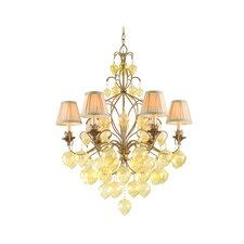<strong>Corbett Lighting</strong> Venetian 6 Light Chandelier with Glass