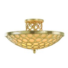 <strong>Corbett Lighting</strong> Bangle 3 Light Semi Flush Mount