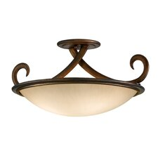 Dauphine 3 Light Semi Flush Mount