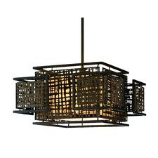 <strong>Corbett Lighting</strong> Shoji 3 Light Dining Pendant