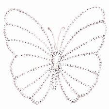 Small Wire Beaded Butterfly Wall Décor