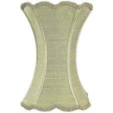 "7.25"" Dupioni Silk Hourglass Scallop Lamp Shade"