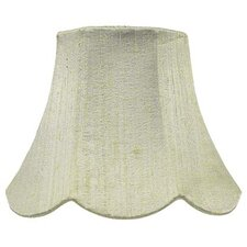 "7"" Squash Scallop Silk Bell Lamp Shade"