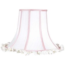 "16"" Ruffle Edge Silk Bell Shade"