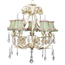 <strong>Jubilee Collection</strong> Ballroom 5 Light Chandelier with Flower Shade