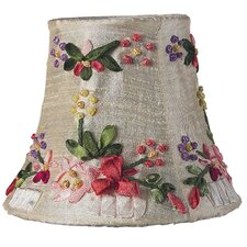 Ribbon Embroidery Chandelier Shade in Ivory