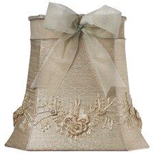 "11.25"" Floral Bouquet Dupioni Silk Square Lamp Shade"