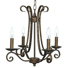 <strong>Jubilee Collection</strong> 4 Light Harp Chandelier